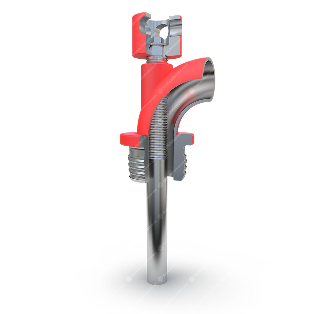 POKZ Valve opening device with the locking thread